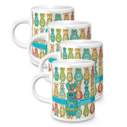 Fun Easter Bunnies Espresso Mugs - Set of 4 (Personalized)