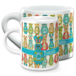 Fun Easter Bunnies Espresso Cups (Personalized)