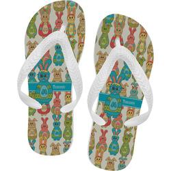 Fun Easter Bunnies Flip Flops (Personalized)