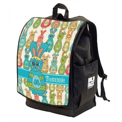 Fun Easter Bunnies Backpack w/ Front Flap  (Personalized)