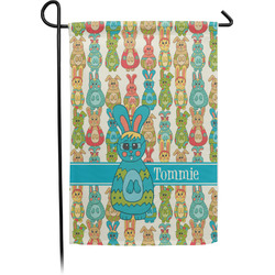 Fun Easter Bunnies Garden Flag (Personalized)