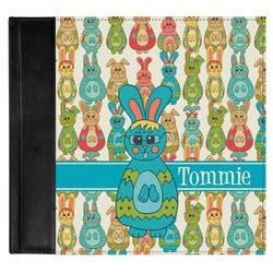 Fun Easter Bunnies Genuine Leather Baby Memory Book (Personalized)