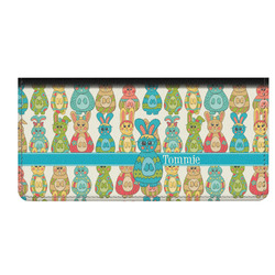 Fun Easter Bunnies Genuine Leather Checkbook Cover (Personalized)