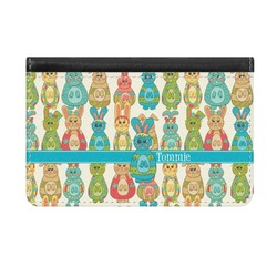 Fun Easter Bunnies Genuine Leather ID & Card Wallet - Slim Style (Personalized)