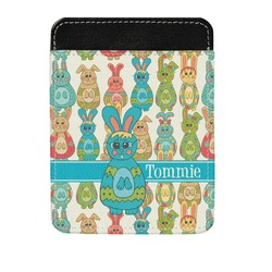 Fun Easter Bunnies Genuine Leather Money Clip (Personalized)