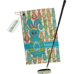 Fun Easter Bunnies Golf Towel Gift Set (Personalized)