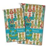 Fun Easter Bunnies Golf Towel - Full Print w/ Name or Text
