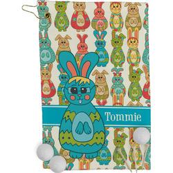 Fun Easter Bunnies Golf Towel - Full Print (Personalized)