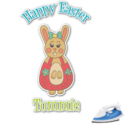 Fun Easter Bunnies Graphic Iron On Transfer (Personalized)