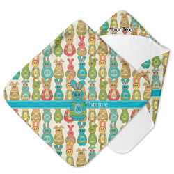 Fun Easter Bunnies Hooded Baby Towel (Personalized)