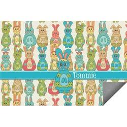 Fun Easter Bunnies Indoor / Outdoor Rug (Personalized)