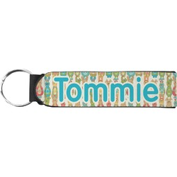 Fun Easter Bunnies Keychain Fob (Personalized)