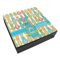 Fun Easter Bunnies Leatherette Keepsake Box - 3 Sizes (Personalized)