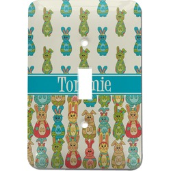 Fun Easter Bunnies Light Switch Cover (Single Toggle) (Personalized)