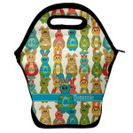Fun Easter Bunnies Lunch Bag w/ Name or Text