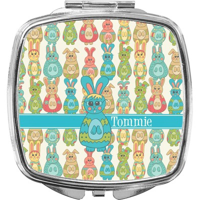 Fun Easter Bunnies Compact Makeup Mirror (Personalized)