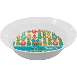 Fun Easter Bunnies Melamine Bowl (Personalized)