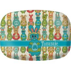 Fun Easter Bunnies Melamine Platter (Personalized)