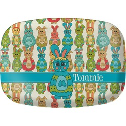 Fun Easter Bunnies Melamine Platter (Personalized)