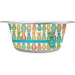 Fun Easter Bunnies Stainless Steel Pet Bowl (Personalized)