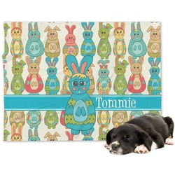 Fun Easter Bunnies Minky Dog Blanket (Personalized)
