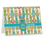 Fun Easter Bunnies Note cards (Personalized)