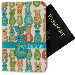 Fun Easter Bunnies Passport Holder - Fabric (Personalized)