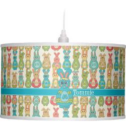Fun Easter Bunnies Drum Pendant Lamp (Personalized)
