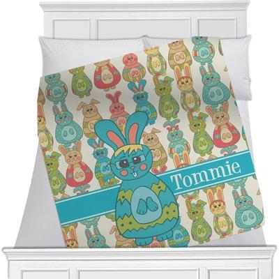 "Fun Easter Bunnies Fleece Blanket - 40""x30"" - Single Sided (Personalized)"