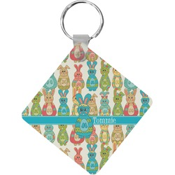 Fun Easter Bunnies Diamond Key Chain (Personalized)