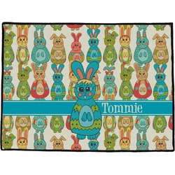 Fun Easter Bunnies Door Mat (Personalized)
