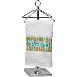 Fun Easter Bunnies Cotton Finger Tip Towel (Personalized)
