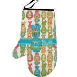 Fun Easter Bunnies Left Oven Mitt (Personalized)