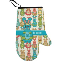 Fun Easter Bunnies Right Oven Mitt (Personalized)