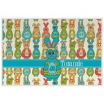Fun Easter Bunnies Laminated Placemat w/ Name or Text