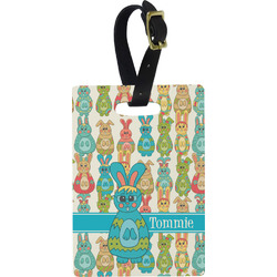 Fun Easter Bunnies Rectangular Luggage Tag (Personalized)