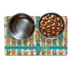 Fun Easter Bunnies Pet Bowl Mat (Personalized)