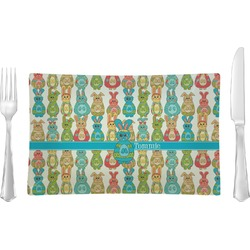 Fun Easter Bunnies Rectangular Dinner Plate (Personalized)