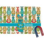Fun Easter Bunnies Rectangular Fridge Magnet (Personalized)