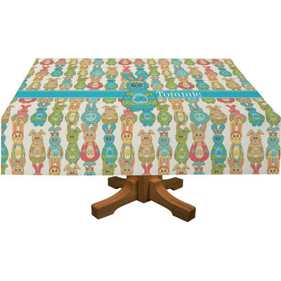 """Fun Easter Bunnies Tablecloth - 58""""x58"""" (Personalized)"""