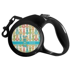 Fun Easter Bunnies Retractable Dog Leash (Personalized)