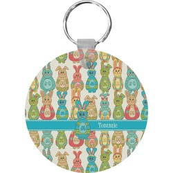 Fun Easter Bunnies Keychains - FRP (Personalized)