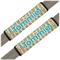 Fun Easter Bunnies Seat Belt Covers (Set of 2) (Personalized)