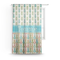 Fun Easter Bunnies Sheer Curtains (Personalized)