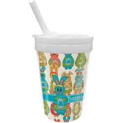 Fun Easter Bunnies Sippy Cup with Straw (Personalized)