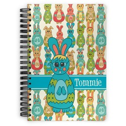 Fun Easter Bunnies Spiral Bound Notebook (Personalized)