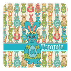 Fun Easter Bunnies Square Decal - Medium (Personalized)