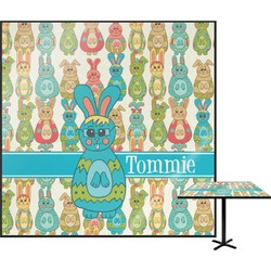 Fun Easter Bunnies Square Table Top (Personalized)