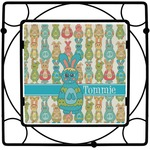 Fun Easter Bunnies Square Trivet (Personalized)