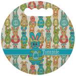 Fun Easter Bunnies Stadium Cushion (Round) (Personalized)
